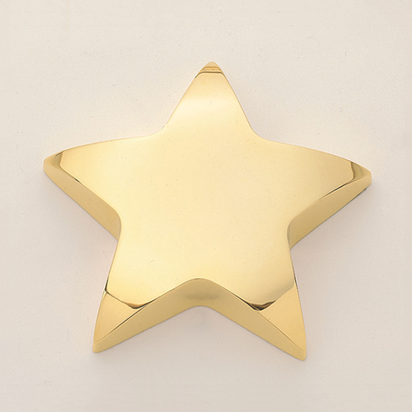 Star Paper Weight with Felt Bottom.