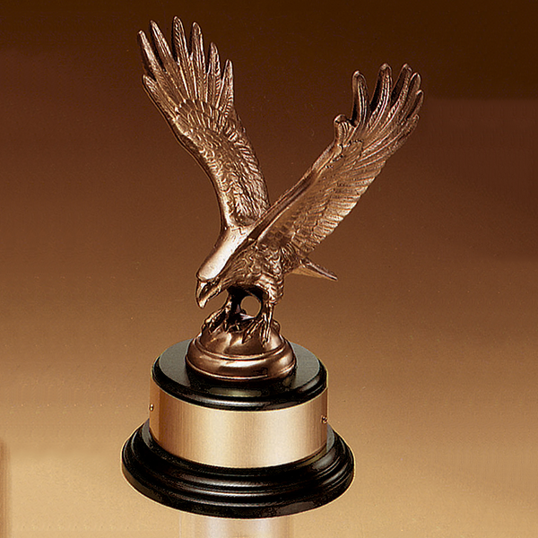 Fully Modeled Antique Bronze Eagle Casting
