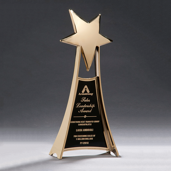Star Casting Trophy in Gold Tone Finish