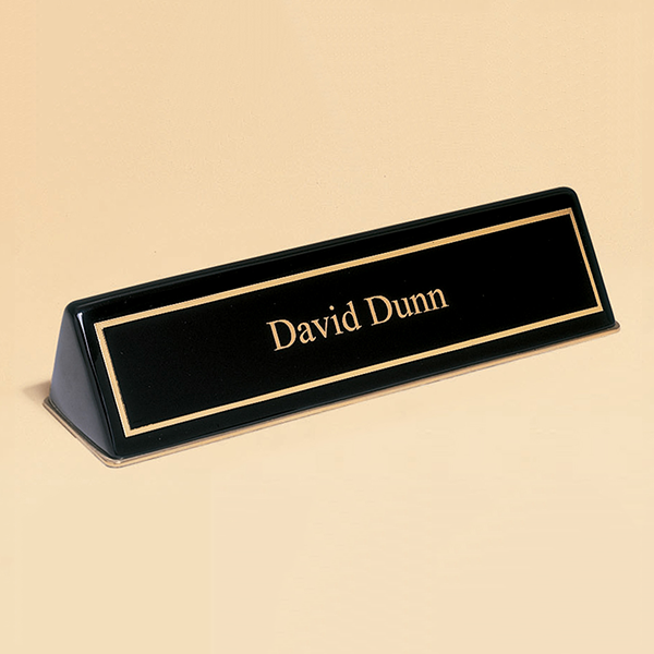 Black Stained Piano Finish Nameplate.