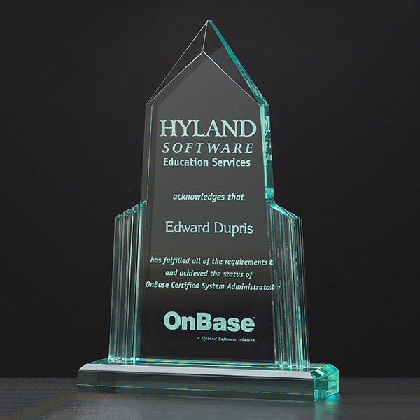 Spire Clear Acrylic Award.