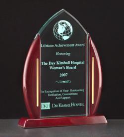 Acrylic Award on a Rosewood Piano Finish Base.