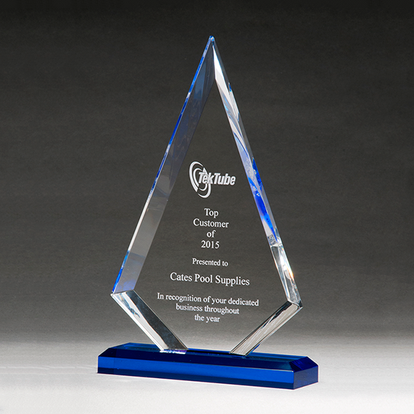 Arrow Series Award with Blue Highlights