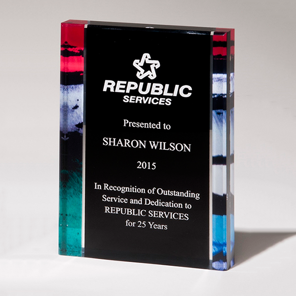 Digitally Printed Freestanding Award
