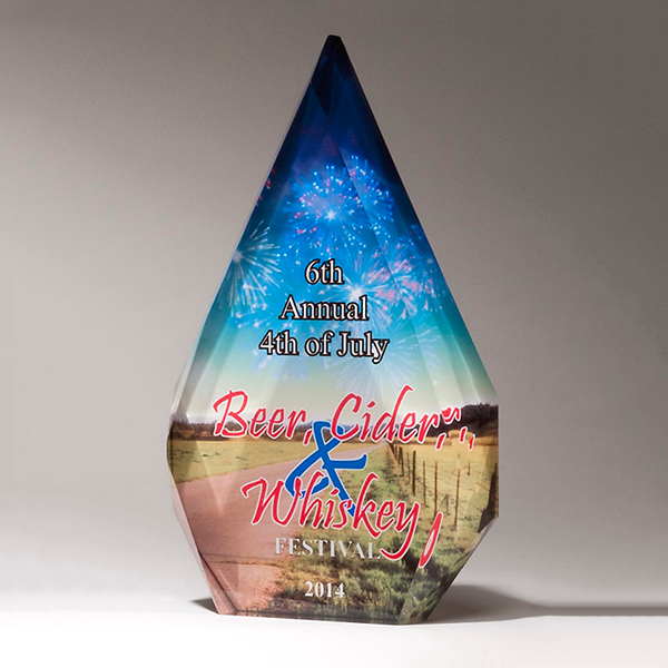 Sublimation Diamond – Personalize Your Award with Four-Color Reproduction