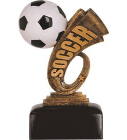 6 inch Soccer Headline Resin