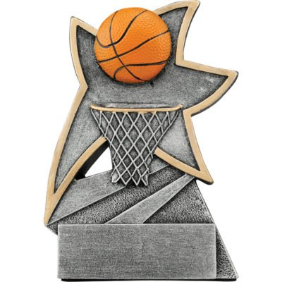 5 1/2 inch Basketball Jazz Star Resin