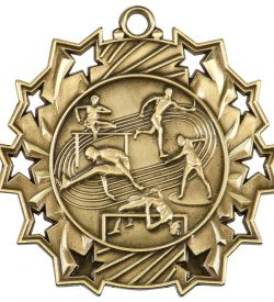 2 1/4 inch Track and Field Ten Star Medal