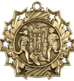 2 1/4 inch Cross Country Ten Star Medal