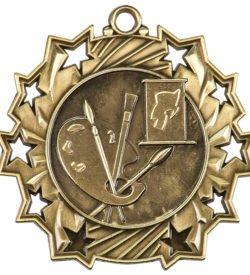 2 1/4 inch Art Ten Star Medal