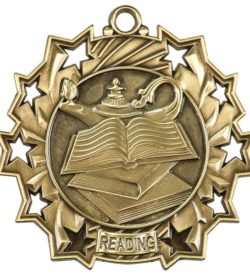 2 1/4 inch Reading Ten Star Medal