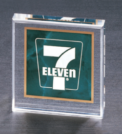 Emerald Marble Square Acrylic Paper Weight