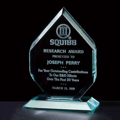 "3/4"" Thick Polished Diamond Acrylic Award"