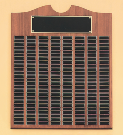 American Walnut Perpetual Plaque