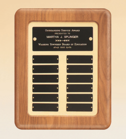 American Walnut Frame Perpetual Plaque