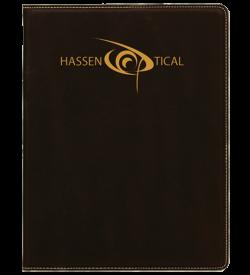 Black Laserable Leatherette Portfolio with Notepad