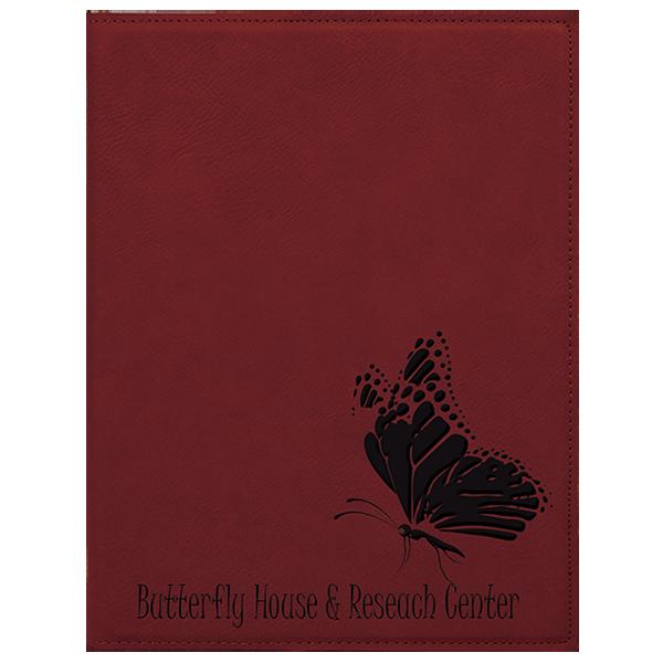 Rose' Laserable Leatherette Mini Portfolio with Notepad