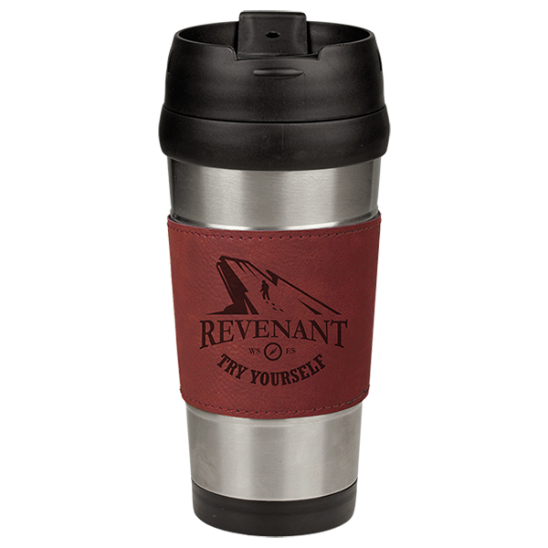 Rose' Laserable Leatherette Stainless Steel Travel Mug