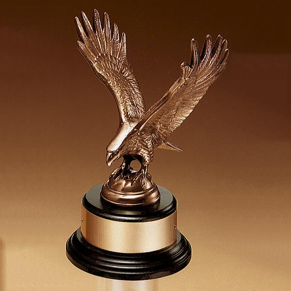 Fully Modeled Antique Bronze Eagle Casting