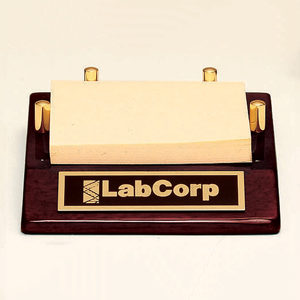 Post-it Note Holder with a Rosewood Piano Finish Base