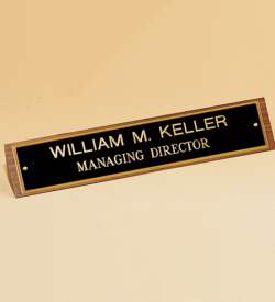 American Walnut Name Plate