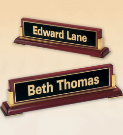 Rosewood Piano Finish Nameplate
