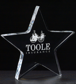 Star Acrylic Paper Weight