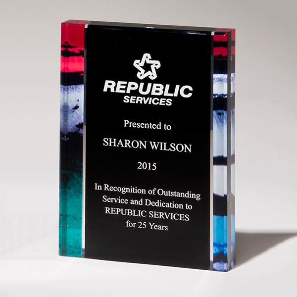 Digitally Printed Freestanding Award