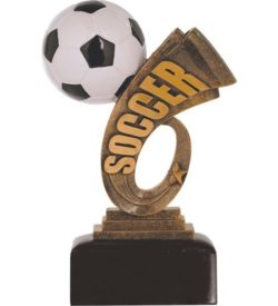 7 inch Soccer Headline Resin