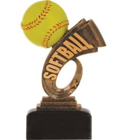 7 inch Softball Headline Resin