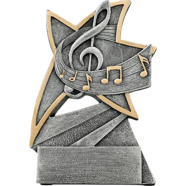 5 1/2 inch Music Jazz Star Resin