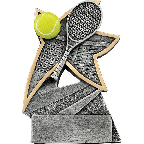 5 1/2 inch Tennis Jazz Star Resin