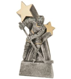 6 inch Male Hockey Super Star Resin