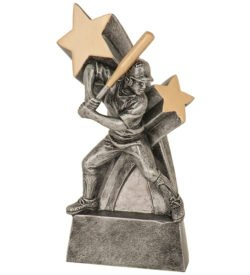 6 inch Female Softball Super Star Resin