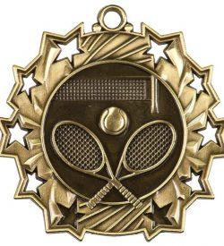 2 1/4 inch Tennis Ten Star Medal