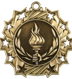 2 1/4 inch Victory Ten Star Medal