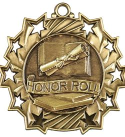 2 1/4 inch Honor Roll Ten Star Medal