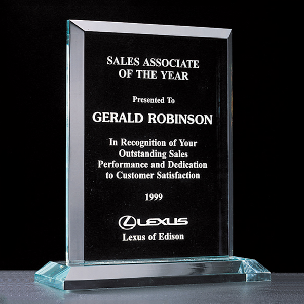 Apex Series Acrylic Award on Acrylic Base.