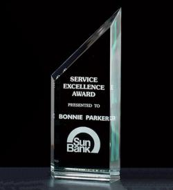 "Zenith Summit 1"" Thick Free-standing Acrylic Award."