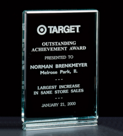 "Classic Series 1"" Thick Free-standing Acrylic Award."