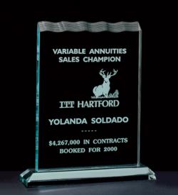 Tidal Wave Acrylic Award