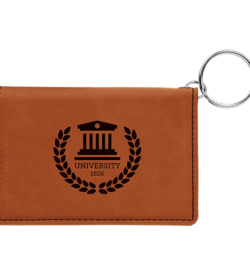 Rawhide Laserable Leatherette Keychain ID Holder