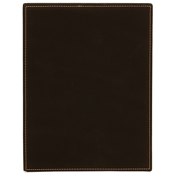 Black Laserable Leatherette Plaque