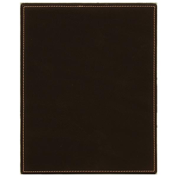 Black Laserable Leatherette Plaque