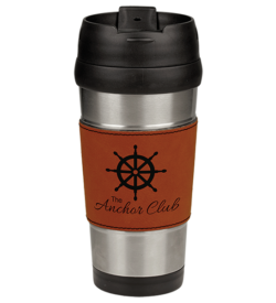 Rawhide Laserable Leatherette Stainless Steel Travel Mug